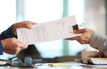 intercambio de documentos con el cliente